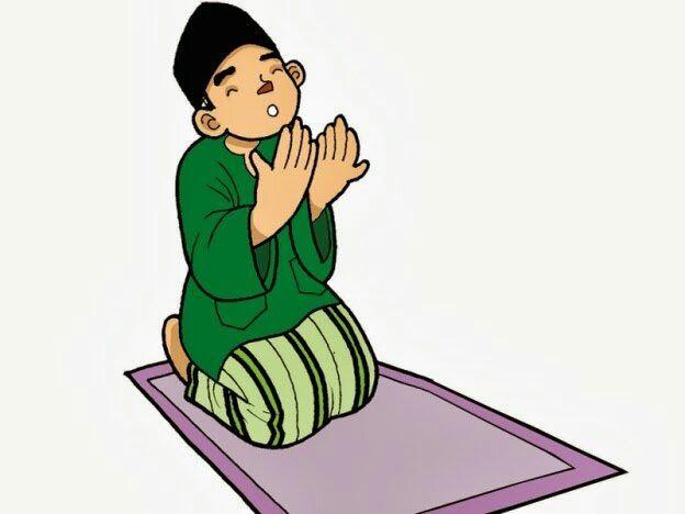 Berdoa sambil Mengangkat Kedua Tangan